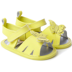 BHS-Baby-Girls-Yellow-Leather-Butterfly-Sandals-£8