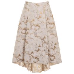 Elvi-Prima-Gold-Jacquard-Skirt-£99