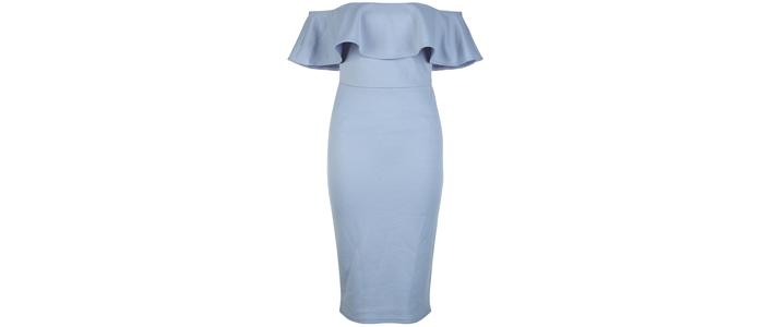 New-Look-Blue-bardot-frill-dress-£14