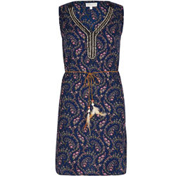Apricot-Navy-Ditsy-Paisley-Print-Tunic-Dress-£24