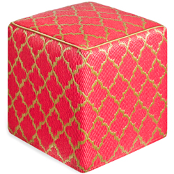 Cuckooland-TANGIER-OUTDOOR-CUBE-POUFFE-in-Pink-&-Bronze-£99