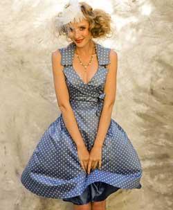 Pretty-Eccentric-Fifi-Dress-in-Silk-Cotton-Polkadot-£169