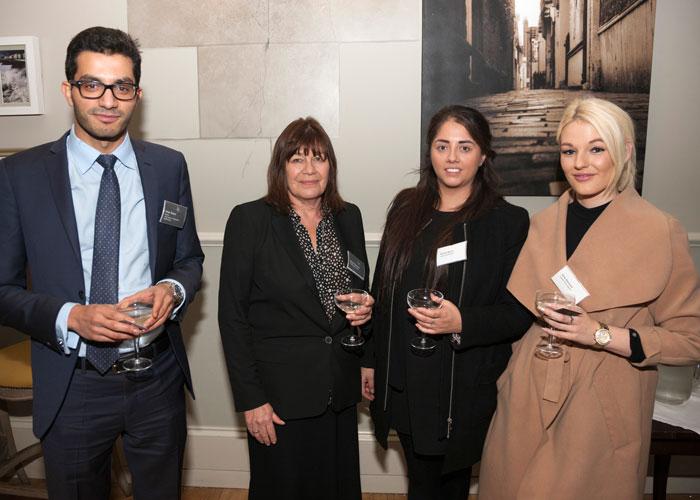 Healys Omar Shams and Diane Edwards with Rachel Marks and Amy Barnard of Leaders
