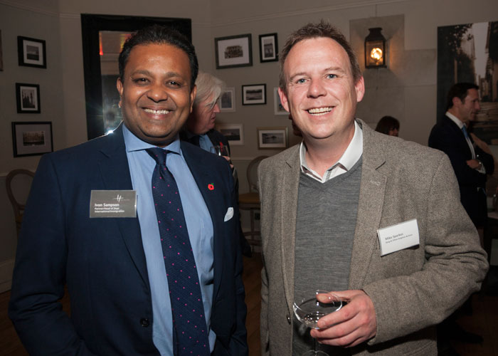 Healys Ivan Sampson with Bang and Olufsen Mike Sparkes