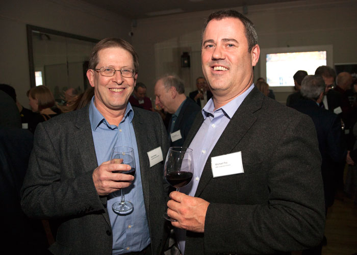 Terry Porter of Carpenter Box with Michael Pay of EMC Corporate Finance