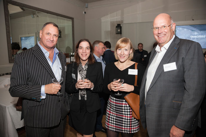 Chestnut Tree House Juliette Macpherson and Victoria Norman with Mark Henderson of Magic Man Ltd and Barry Carden of Carden Accountants