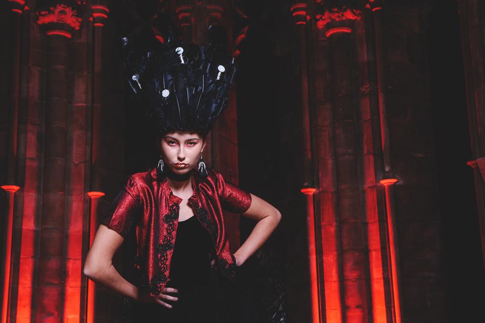 fashion headwear black red