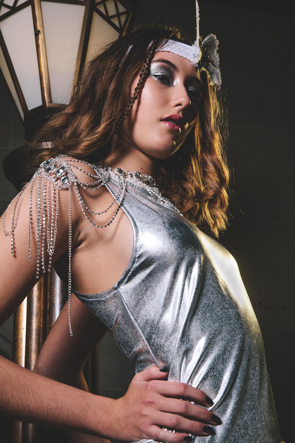 Fashion dress silver