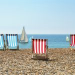 Deck chairs on Sussex beach Title Sussex Magazine www.titlesussex.co.uk