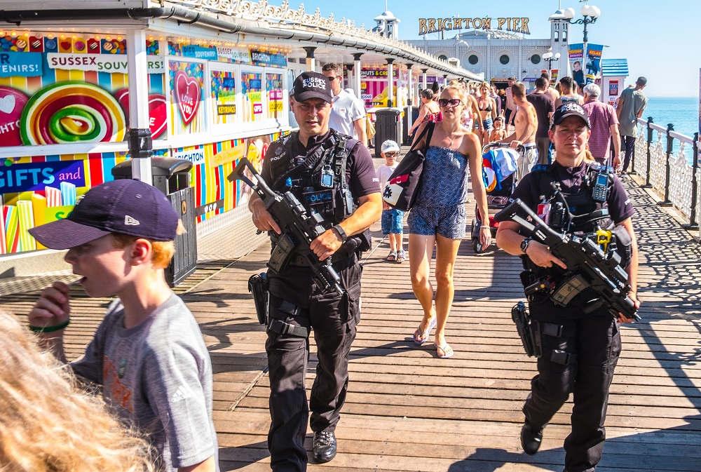 J Waller - Police on Brighton Pier for Title Sussex Magazine www.titlesussex.co.uk