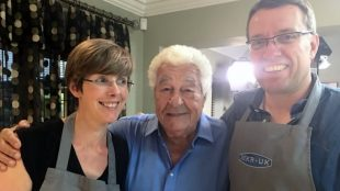 Sam and Neil Bilton with the legendary Antonio Carluccio on Title Sussex Magazine www.titlesussex.co.uk