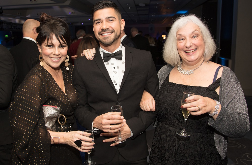 Julie Graham, Lenny Royal & Linda Perry Snowball social Title Sussex Magazine www.titlesussex.co.uk