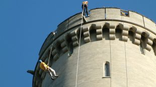 Abseil down Arundel Castle for Chestnut Tree charity Title Sussex Magazine www.titlesussex.co.uk