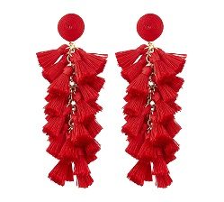 Accessorize red tassel earrings £10 Title Sussex Magazine Frida Kahlo summer looks www.titlesussex.co.uk