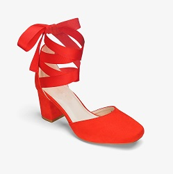 JD Williams Red Wrap Around Block Heel £30 Title Sussex Magzine Frida Kahlo inspired fashion www.titlesussex.co.uk