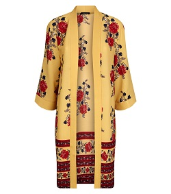 New Look mustard floral border print kimono £22.99 Title Sussex Magazine Frida Kahlo inspired fashion www.titlesussex.co.uk