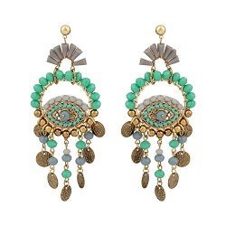 Oliver Bonas Oko Beaded Eye, Disc Drop Earrings £24 Title Sussex Magazine Frida Kahlo inspired fashion www.titlesussex.co.uk