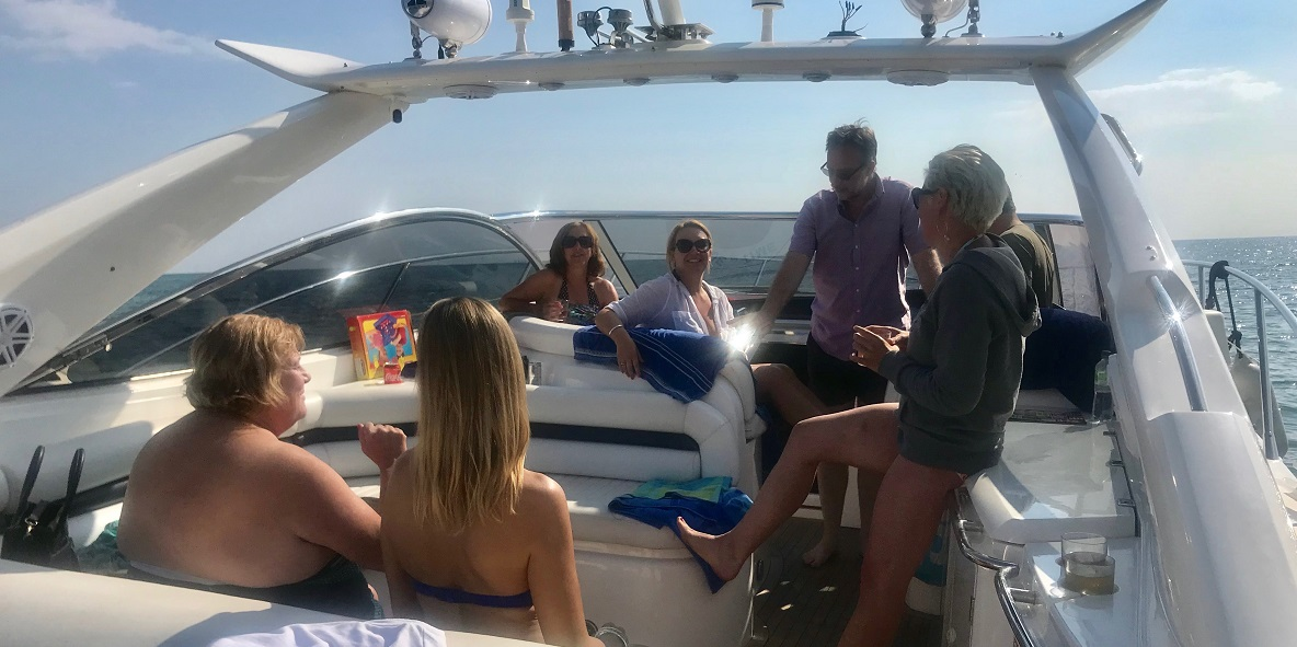 Team Title out for summer party on boat Title Sussex Magazine www.titlesussex.co.uk