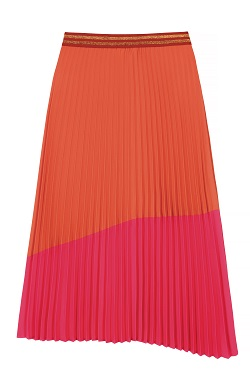 Tu pleated orange and pink midi skirt £22 Title Sussex Magazine Frida Kahlo inspired fashion www.titlesussex.co.uk