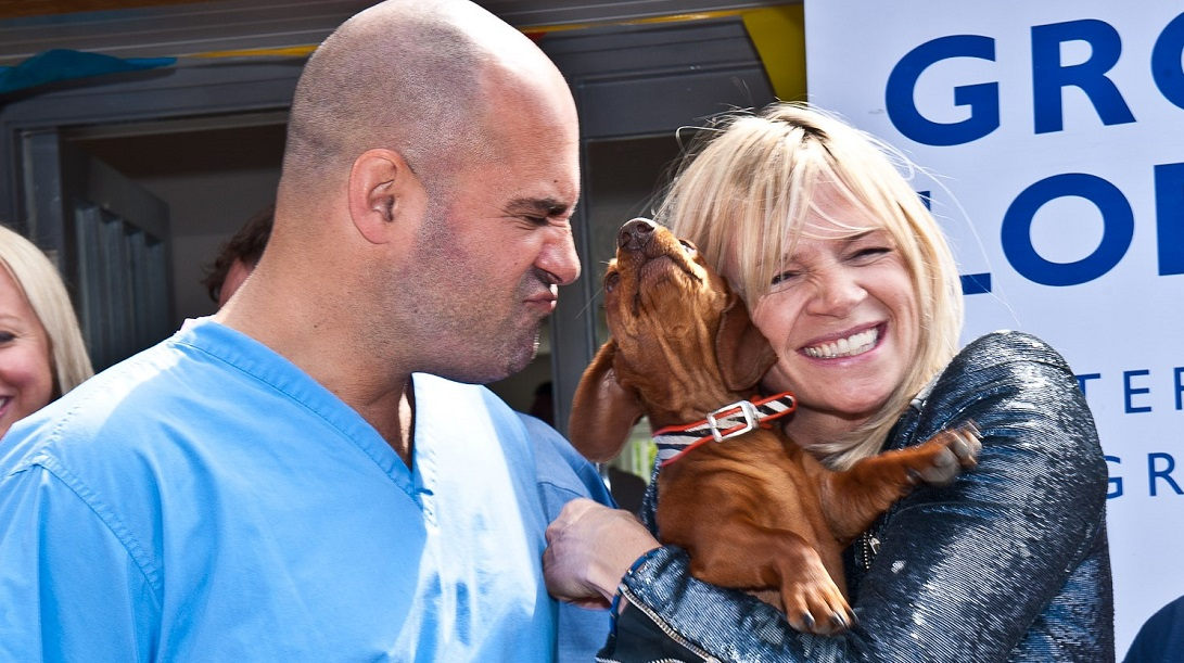 Marc Abraham and Zoe Ball at a Pup Aid event - photo by Julia Claxton