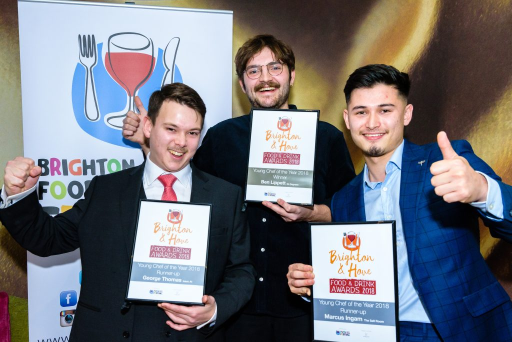 Young Chef of the Year 2018 all winners - sponsored by Ridgeview Wine Estate photo by Julia Claxton Title Sussex Magazine www.titlesussex.co.uk