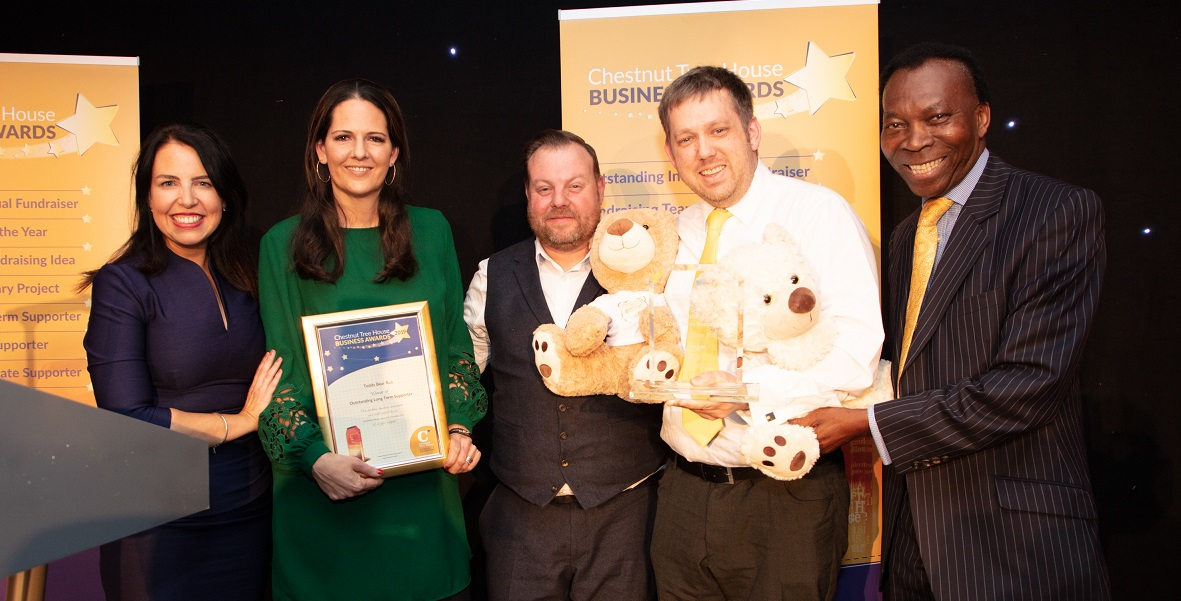 Teddy Bear Run Outstanding Long Term Supporter winner Chestnut Tree House Business Awards on Title Sussex Magazine www.titlesussex.co.uk