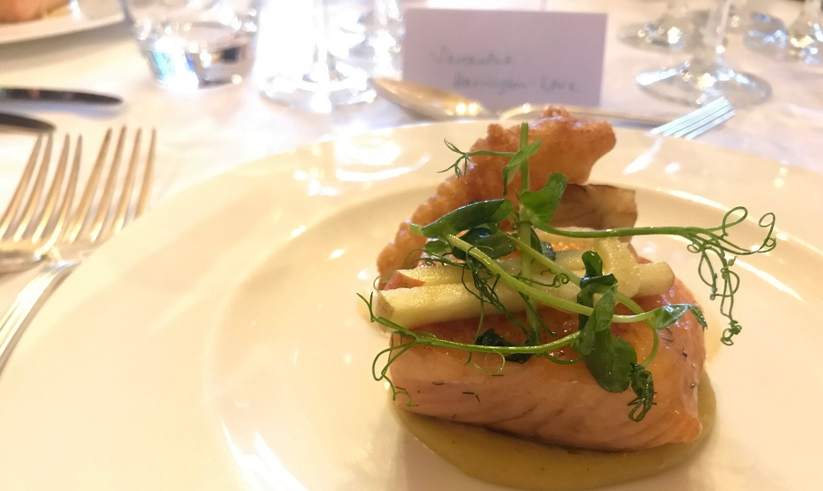 Smoked salmon at Ockenden Manor review on Title Sussex Magazine www.titlesussex.co.uk
