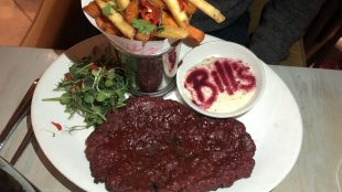 Bill's beetroot steak and fries veganuary menu www.titlesussex.co.uk