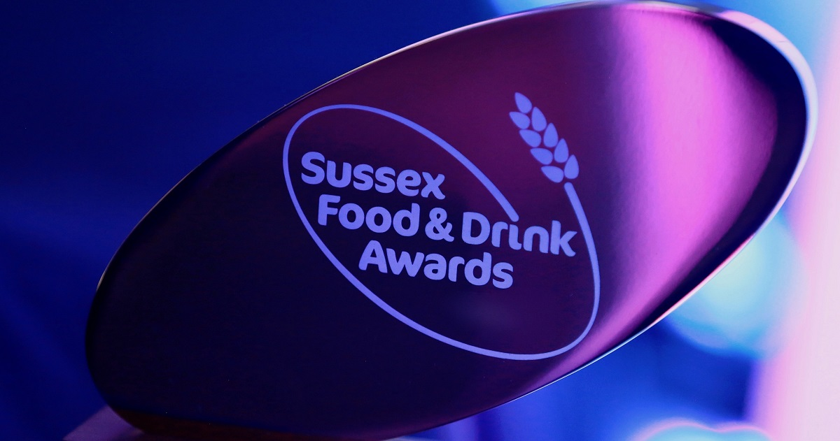 Trophy for Sussex food and drink awards 2020 www.titlesussex.co.uk