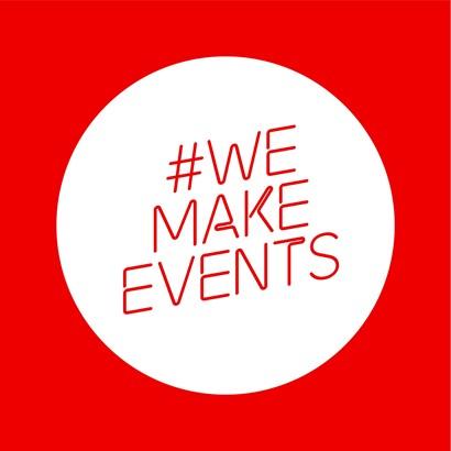 We Make Events logo - Title Sussex Magazine