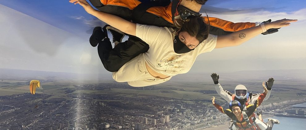 Skydiving illusion for Paradox Place on www.titlesussex.co.uk