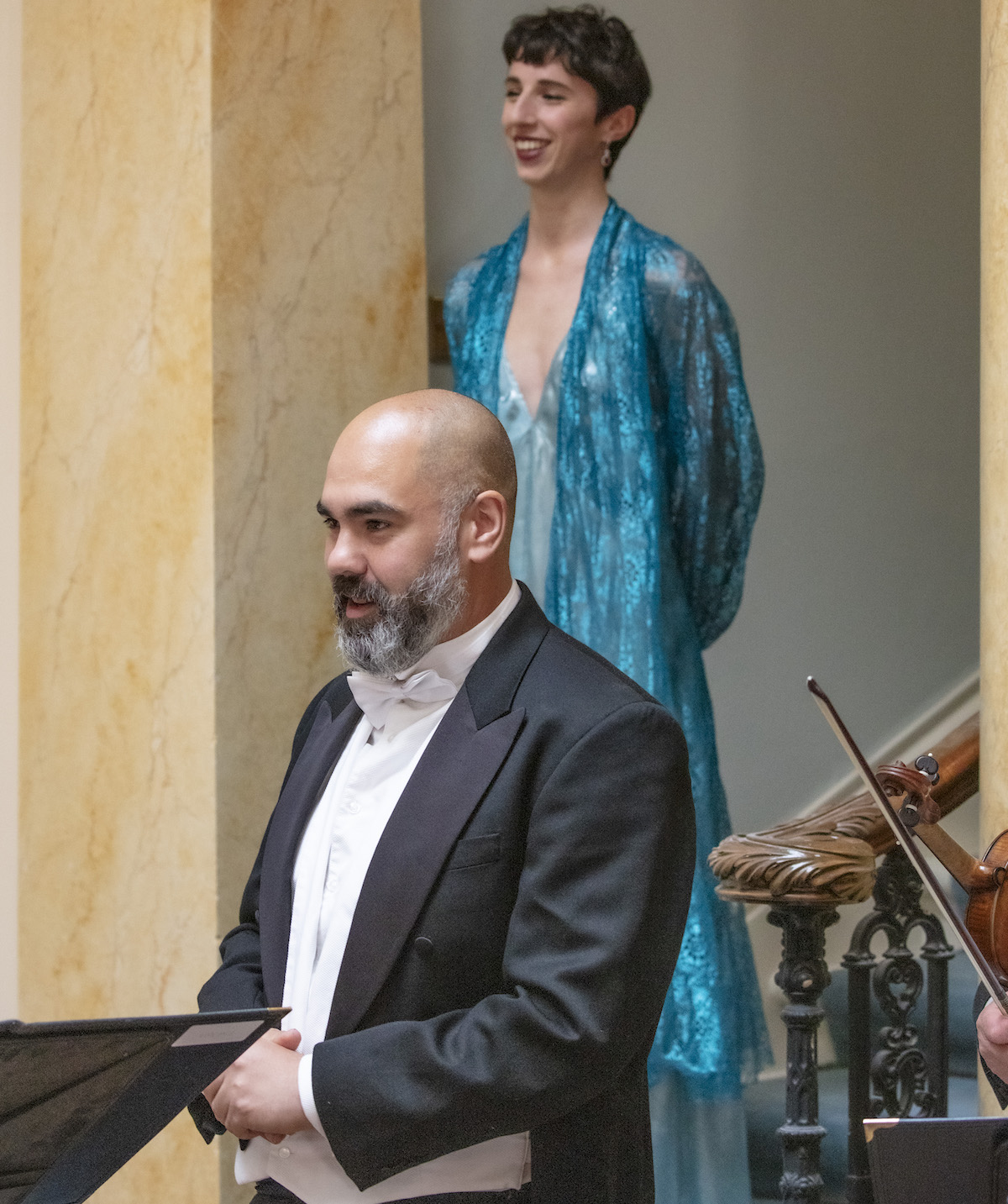 Tenor Ben Thapa with Soprano Charlotte Broker at the Leonardslee Gardens Live Music Night - article on Title Sussex - www.titlesussex.co.uk